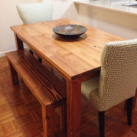 5 Solid Wood Farmhouse Table Dining By Emmorworks