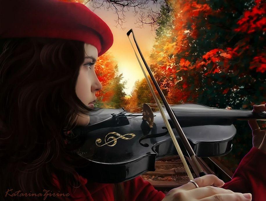 Анимационные картинки скрипка