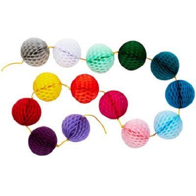 Ruby Rabbit Partyware - Rainbow Honeycomb Garland