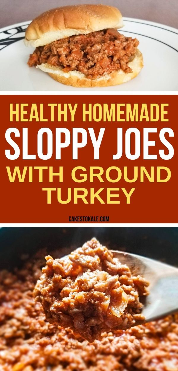 Healthy Homemade Sloppy Joes with Ground Turkey