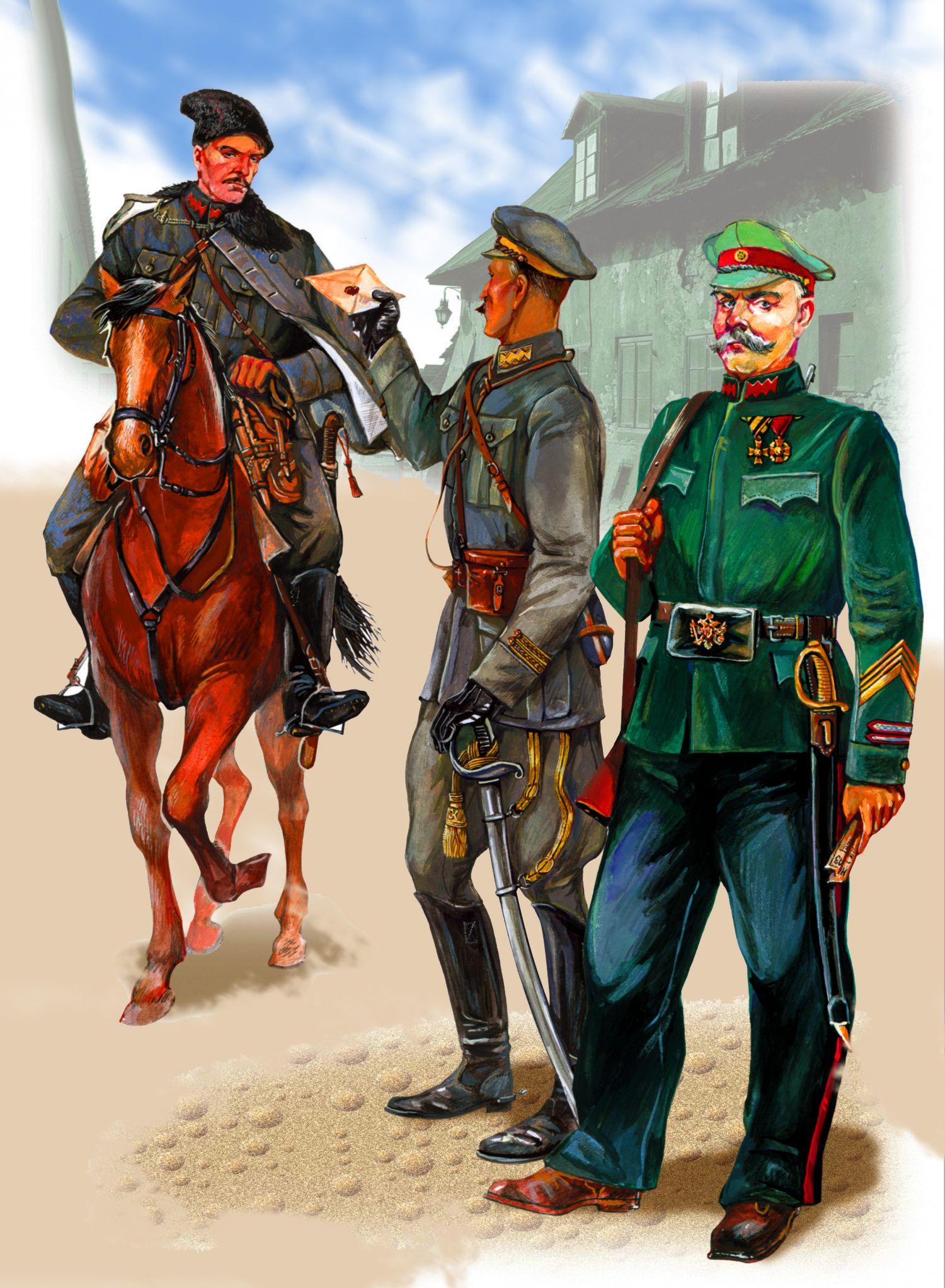 это понять, цветные картинки кавалеристов белого