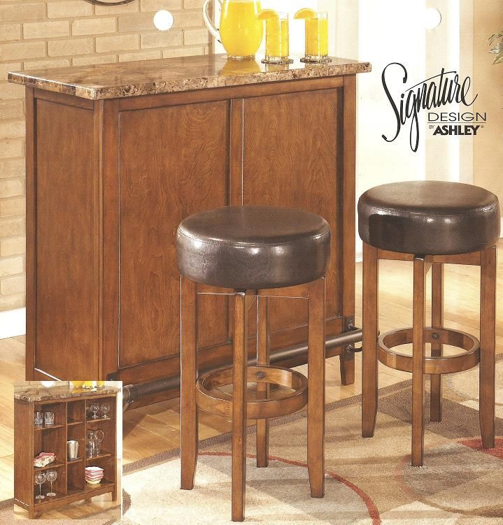 Ashley Furniture D158 65 Bar With 230 Barstools