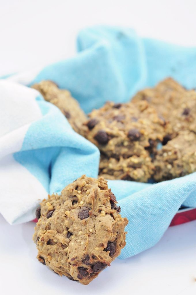 Puffed Quinoa Protein Cookies With Chia Seeds And Chocolate Chips