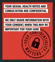 Your sexual notes and consultation are confidential
