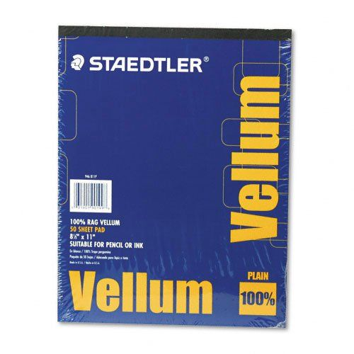 Staedtler Mars Vellum Paper 16 Rag 8 5 X 11 Inches Plain 50 Sheets Per Pad 946811p Staedtler Vellum Paper Easy Paper Crafts Love Coupons