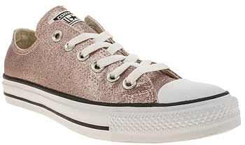 214ccd66e33 Womens rose gold converse pale pink glitter oxford trainers from Schuh -  £50 at ClothingByColour.com
