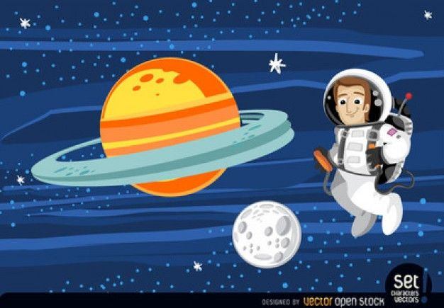 Download Astronaut With Orange And Moon for free