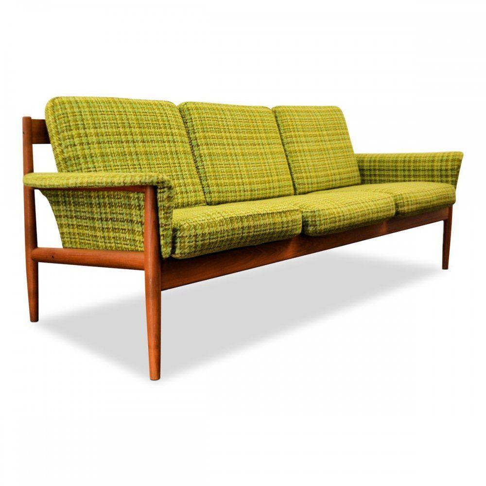 For Sale Vintage Danish Design Grete Jalk Teak 3 Seating Sofa Vintage Danish Sofa Teak Sofa Modular Corner Sofa