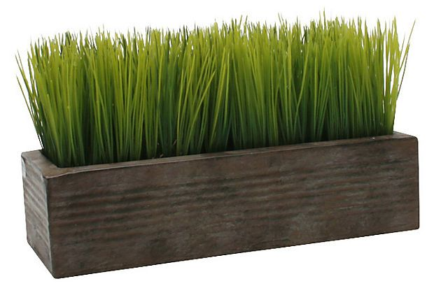 Rectangular Potted Wheat Grass Wheat Grass Artificial Plants Outdoor Plants
