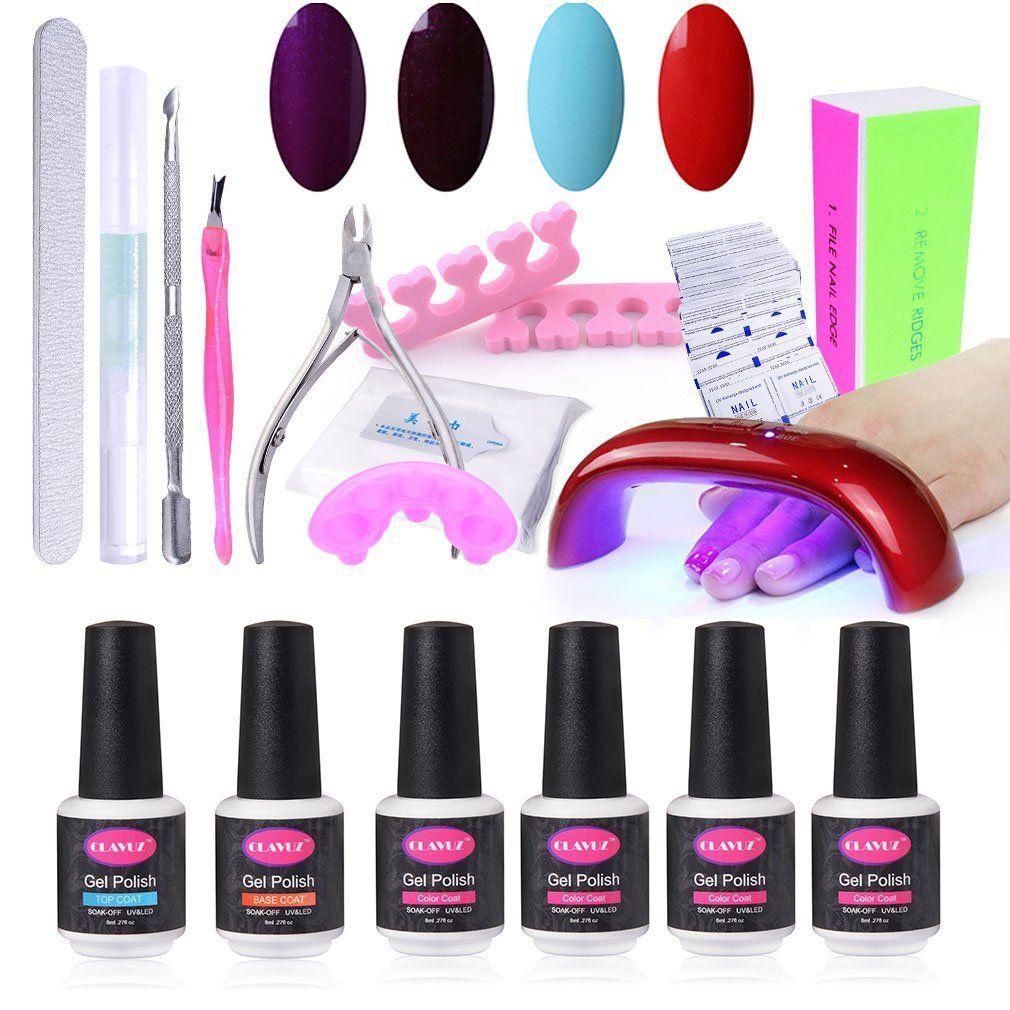 Gel Nail Polish Starter Kit, With 6W UV LED Dryer Manicure
