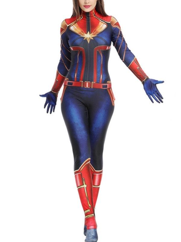 Captain Marvel Cosplay Costume – Cosplayini