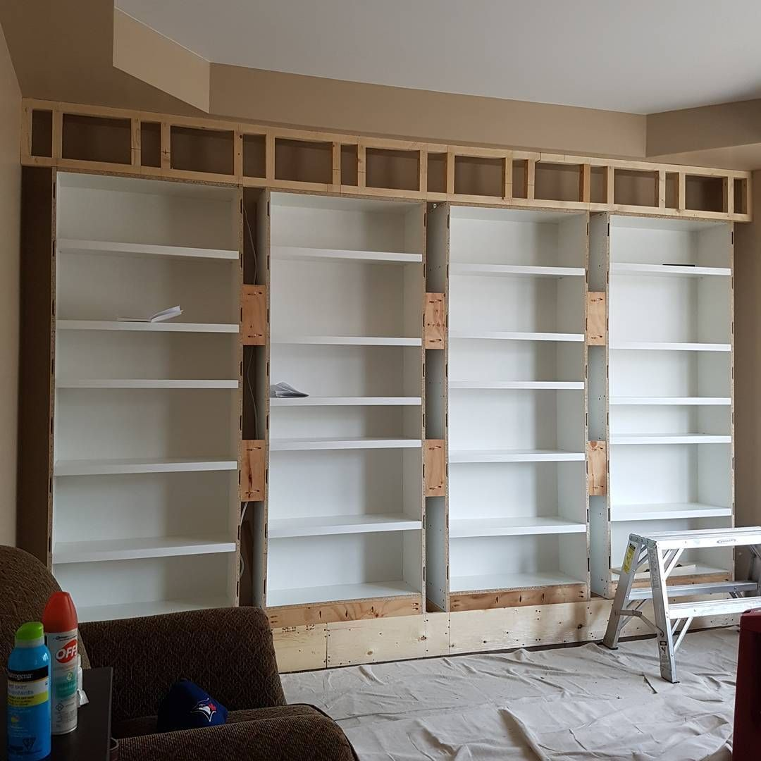 Tim Raleigh On Instagram Ikea Billy Bookcases Are In Blocking For The Electricians And Centerline For The Junction Box Is Marked The Electricians Are Here In 2020 Billy Bucherregal Aufbewahrung Regal