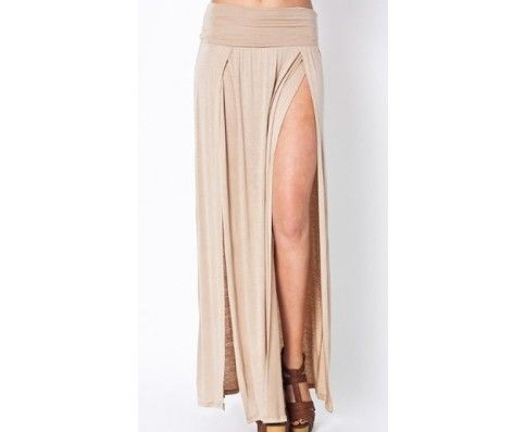 show off a little leg in this maxi skirt