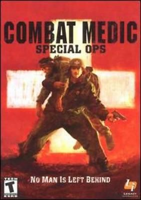 Combat Medic: Special Ops w/ Manual PC save injured soldiers war survival game!