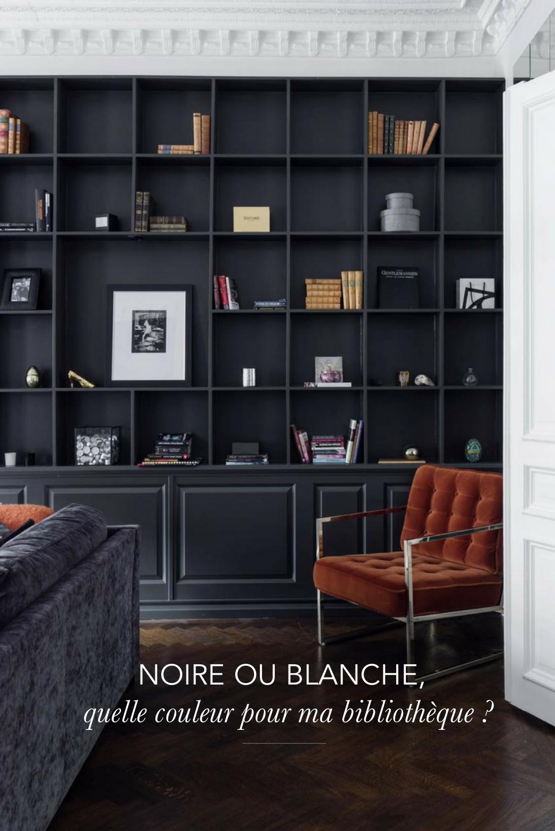 am nager une biblioth que murale dans son salon quelle couleur choisir bureau pinterest. Black Bedroom Furniture Sets. Home Design Ideas