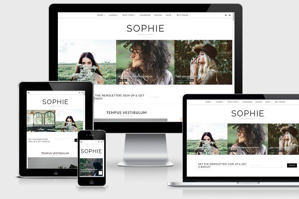 WordPress Theme, Responsive - Sophie by Georgia Lou Studios on ...