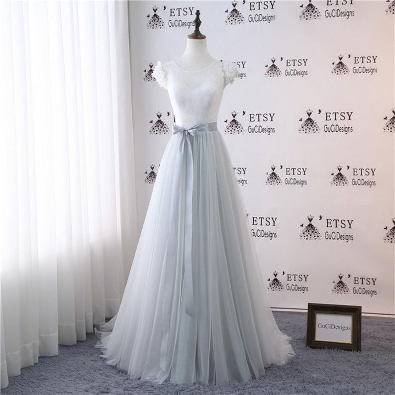 A Line Wedding Gown Wedding Dresses Bridal Gown Bride Dress Etsy Ball Dresses Vintage Dresses Light Grey Skirt