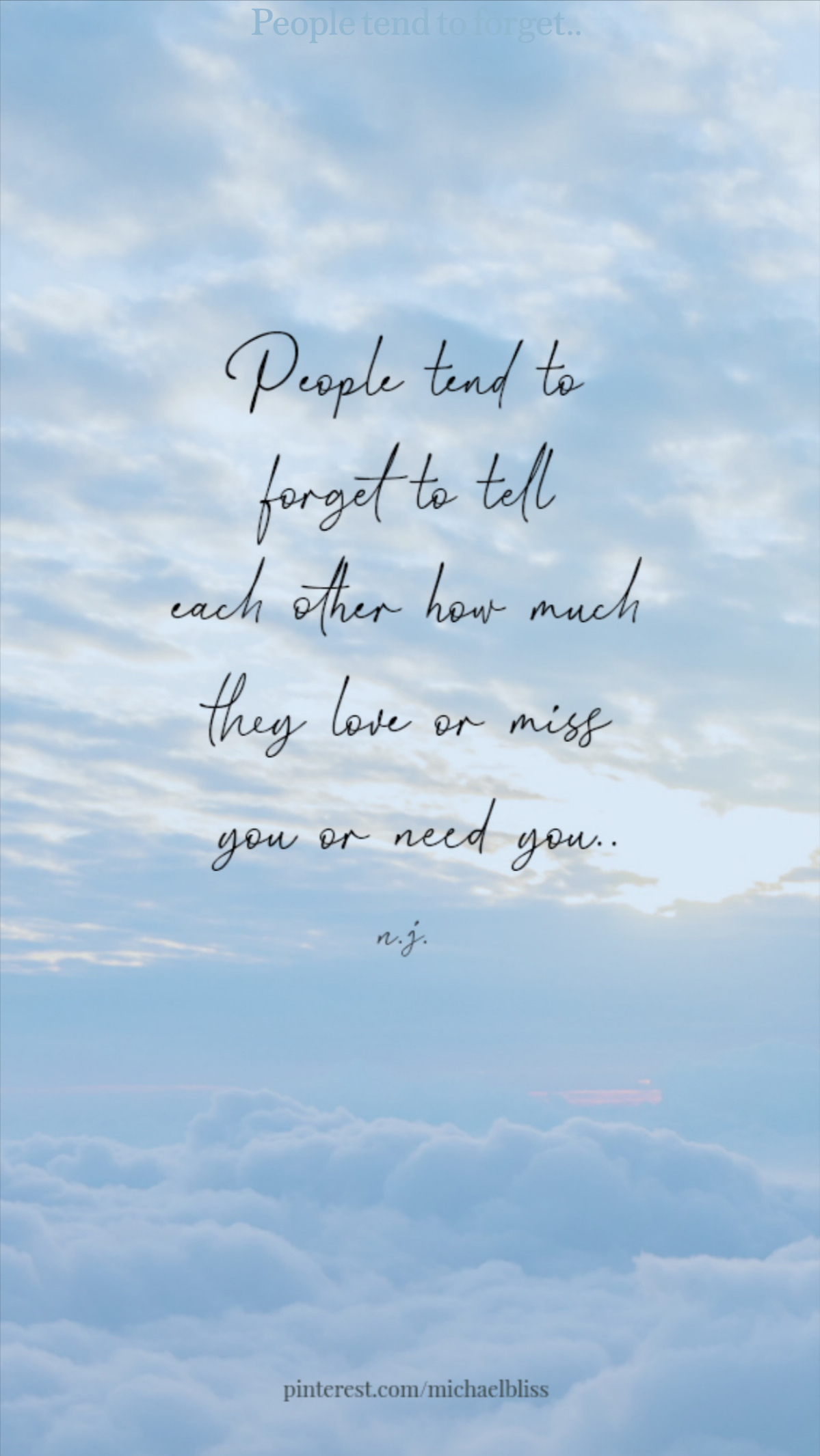 People tend to forget..