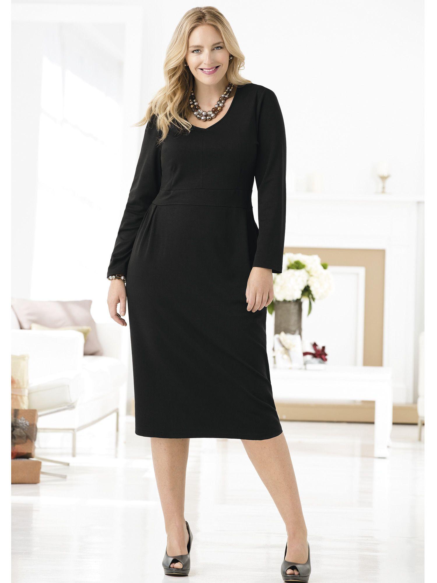 High Society Ponte Knit Dress | Plus Size Work Dresses | OneStopPlus ...