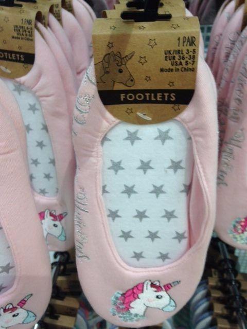20ba2954a06 Primark Ladies UNICORN Slippers Womens Girls Slipper Socks UNICORNS Footlets