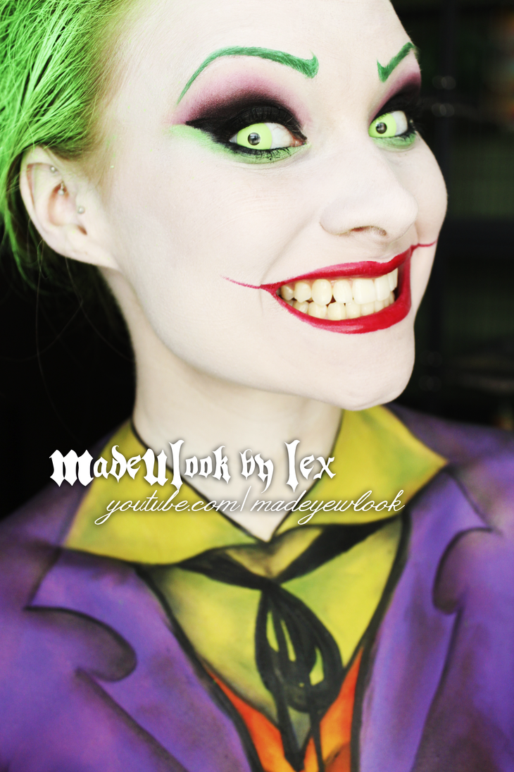 The Chameleonic Alexys Fleming Joker halloween makeup