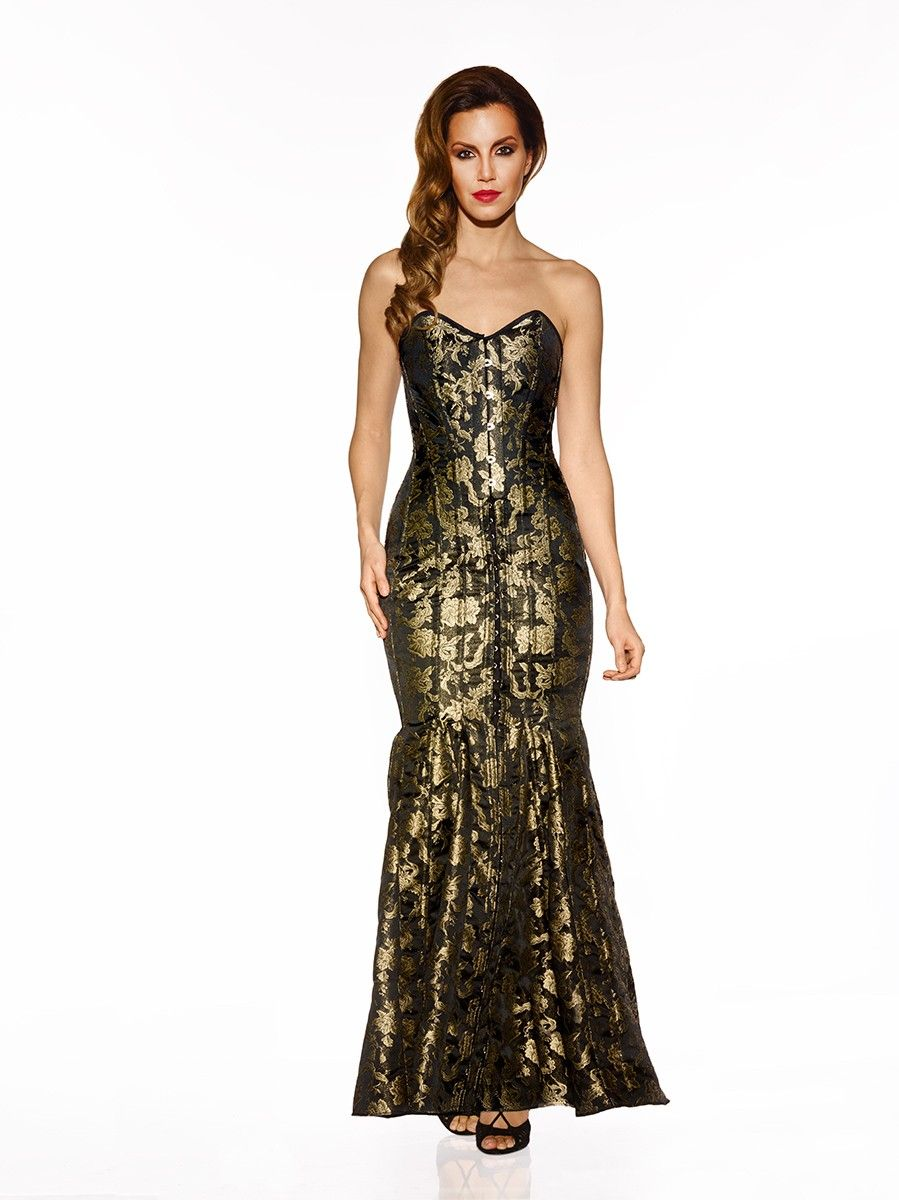Veco floor length gown for £950 by Vollers Corsets | Corset Dresses ...