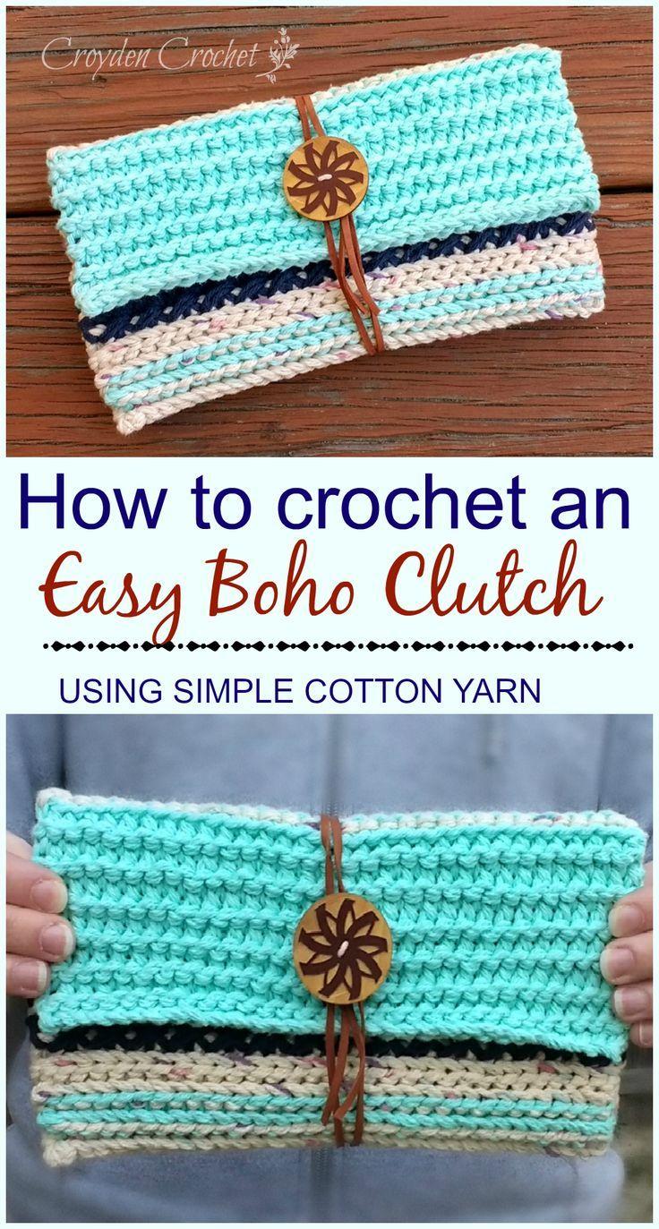 Easy Boho Crochet Clutch