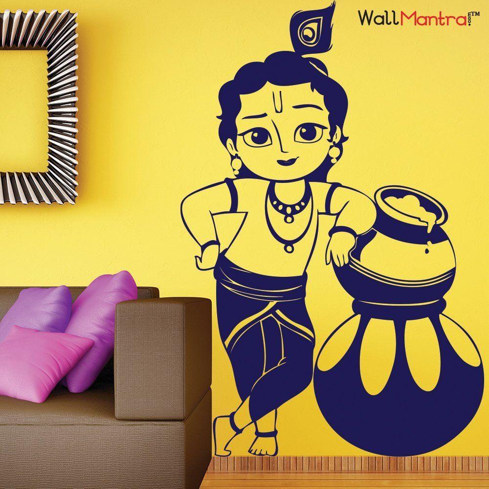 WallMantra Bal Krishna Wall Sticker | Wall Stickers | Pinterest ...