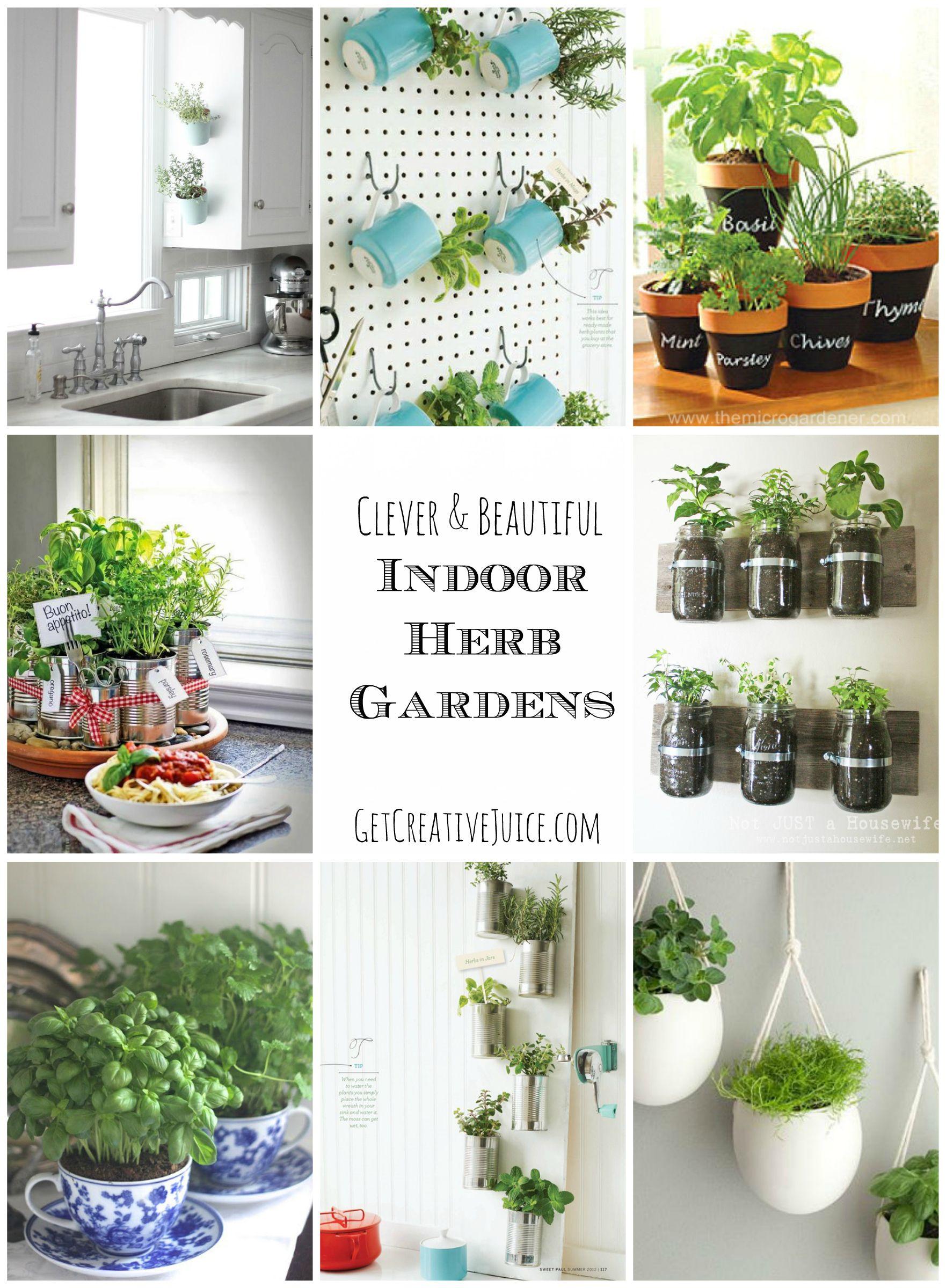 7+ DIY Potted Herb Garden Ideas - Simphome  Indoor herb garden