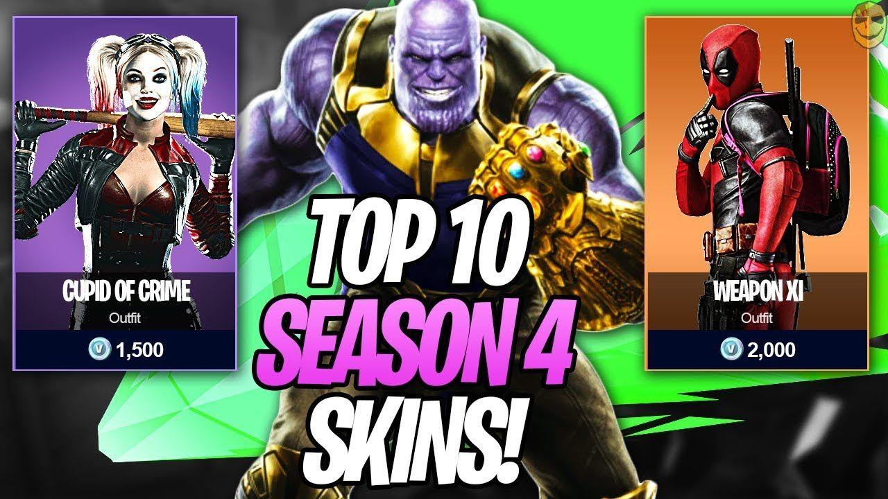 Season 4 Top 10 Superhero Skins Battle Pass Whishlist Fortnite