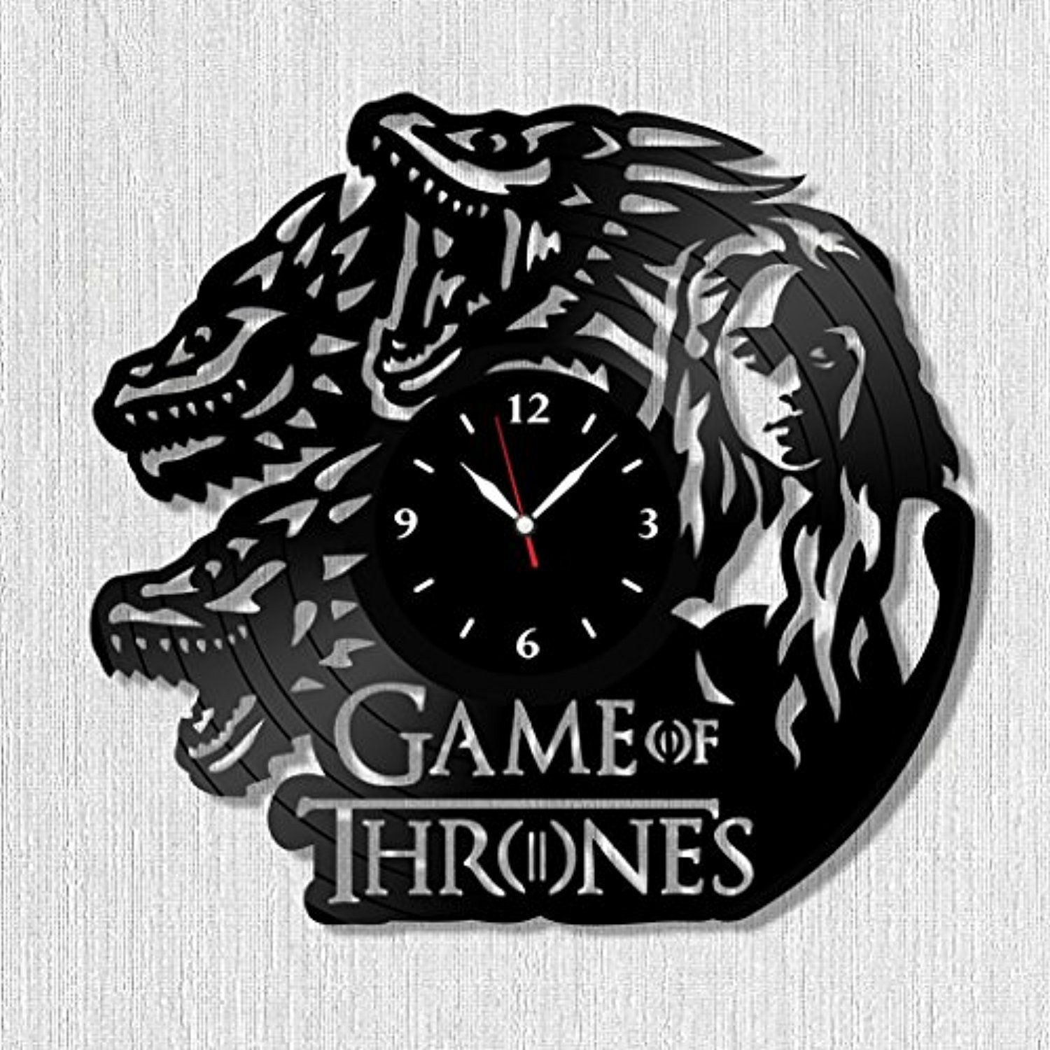 """SofiClock GAME of THRONES Vinyl Record Wall Clock 12"""", The"""