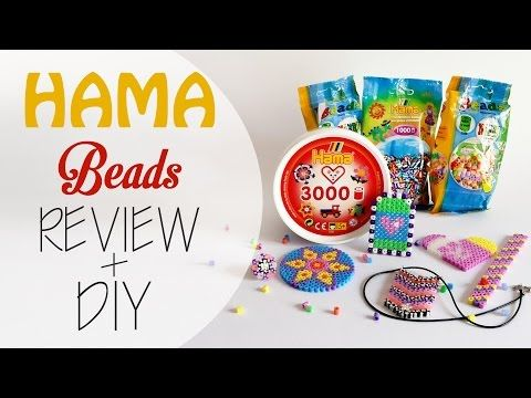 Perline da stirare Hama beads - Review + Diy (collab. perlinedastirare.it) - YouTube