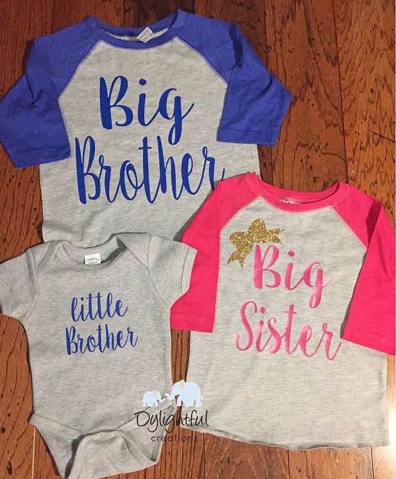 4c738e55436f Big brother big sister little brother matching sibling raglans baseball  shirts with name on the back & number on back pregnancy announcement These  raglans ...