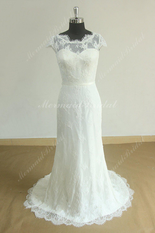 10 Stunning Diy Ideas Wedding Gowns Open Back Spaghetti Straps: Diy Lace Wedding Dress At Reisefeber.org