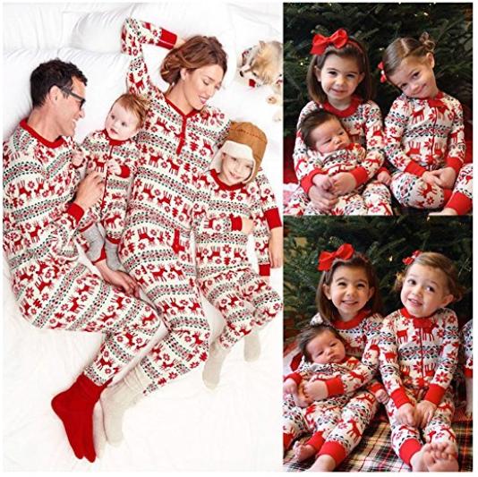 4c0023dddd christmas-pajamas-family-sets-deer-sleepwear-nightwear-pyjamas-xmas-gift