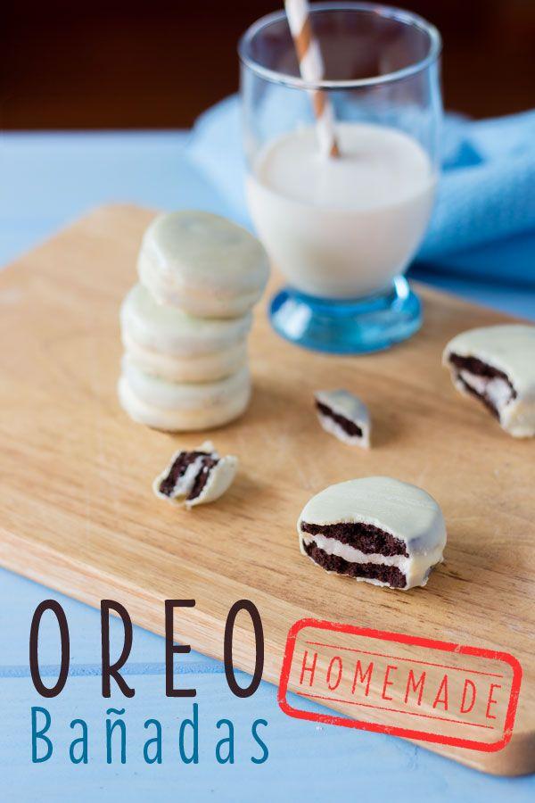 Oreo Bañadas | Oreo Caseras Banadas En Chocolate Blanco Igualitas A Las Originales