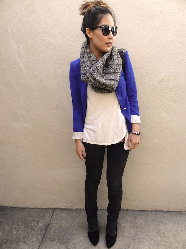 Absolutely love the blue blazer trend-ordering one asap! | Passion ...