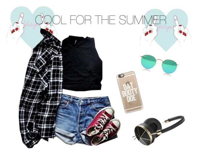"""""""Cool for the summer"""" by shaharalagem ❤ liked on Polyvore featuring Converse, Frends and Casetify"""
