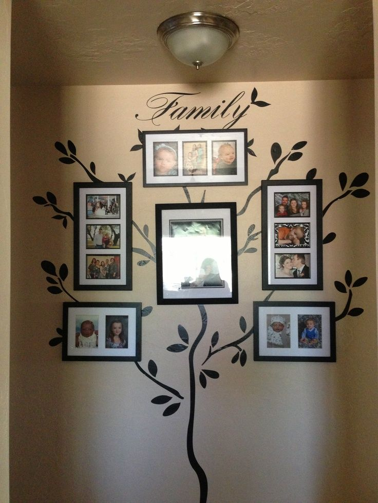 Cricut Vinyl Projects My Family Tree Using My Cricut And Vinyl Family Photo Wall Family Tree Photo Family Tree Designs