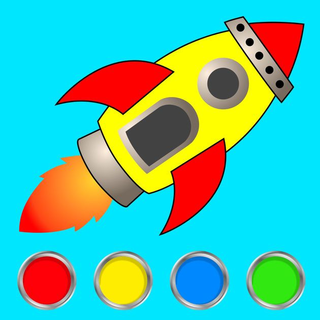 NEW IOS APP Kids Doodle Coloring Book Space Game For