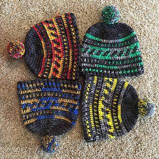 Hogwarts Houses Hearts Around Your Head Hat Harry Potter Crochet Crochet Patterns Crochet Hat Pattern