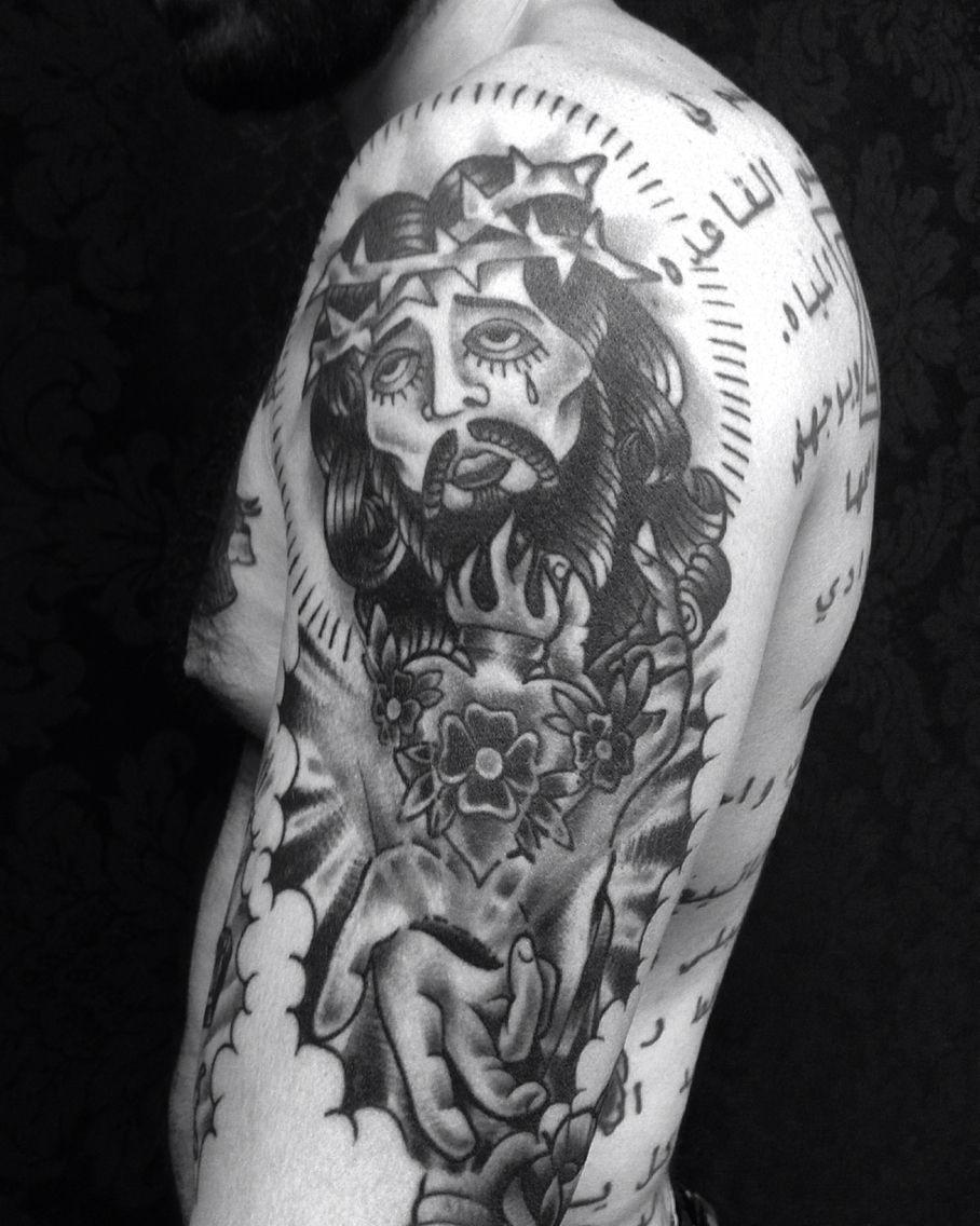 Jesus old school tattoo christ tattoo old school tattoo