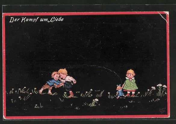 Künstler-AK Wohlgemuth & Lissner, Primus-Postkarte No. 132: Jugendstreiche…