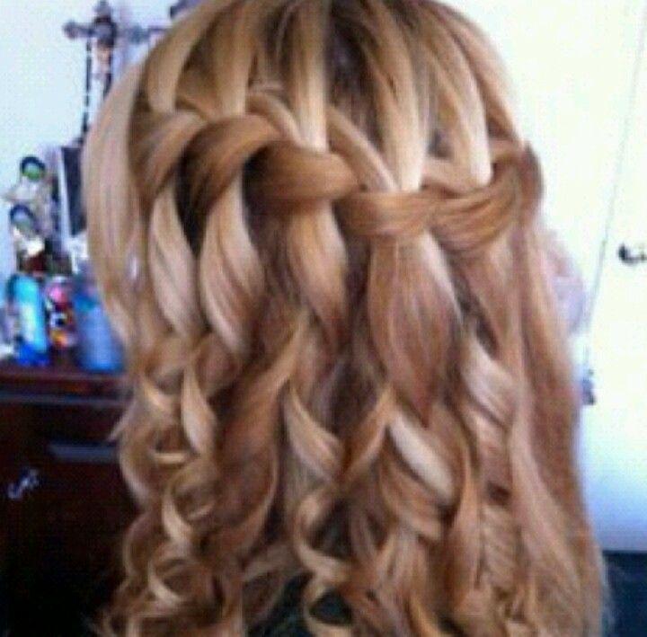I want this hair #blond #curlies #braid