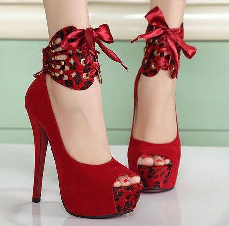 Zapatos rojos Tacón de aguja para mujer HLC8ir9