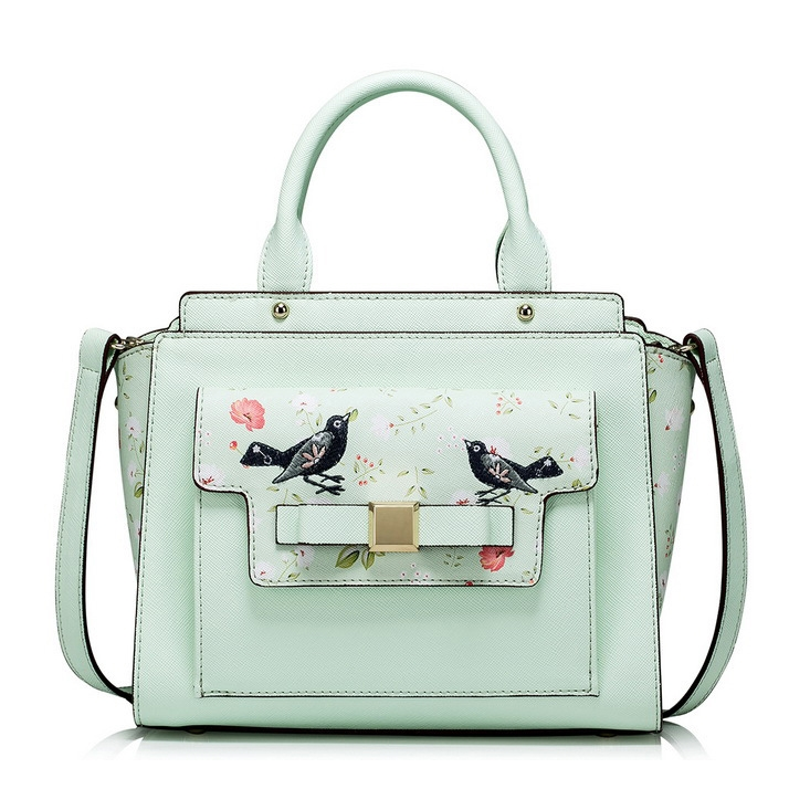 104.93$  Watch now - http://aliiwx.worldwells.pw/go.php?t=32710490015 - 2016 Fashion Brand Design Bird Embroidery Women's Top Handle Bags Lady's Fresh Flowers Totes Elegant Messenger Crossbody Bags 104.93$