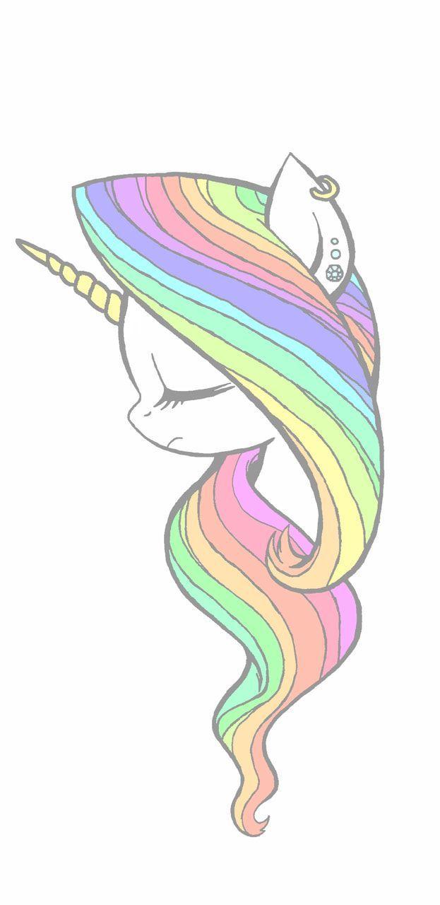 Rainbow Unicorn Unicorn Drawing