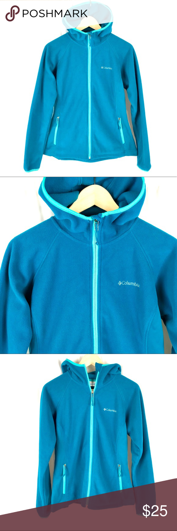 Columbia hooded zip up fleece jacket my posh closet pinterest