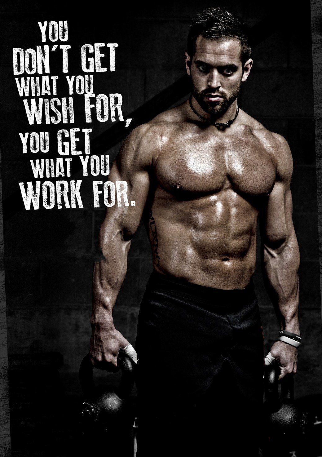 Amazon Fitness Poster Workout Motivation 18x24