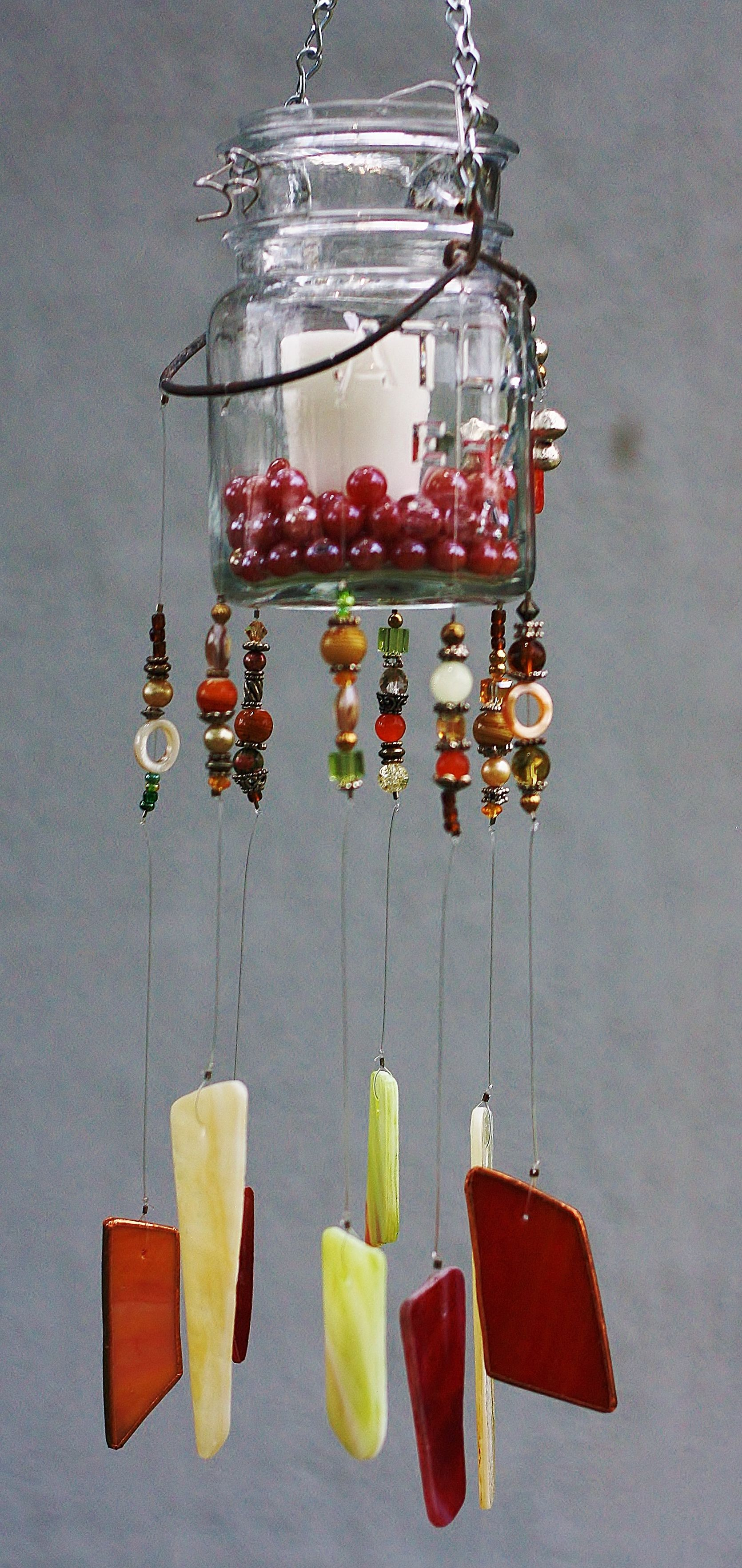 Unique One Of A Kind Mason Jar Candle Wind Chime - made ...